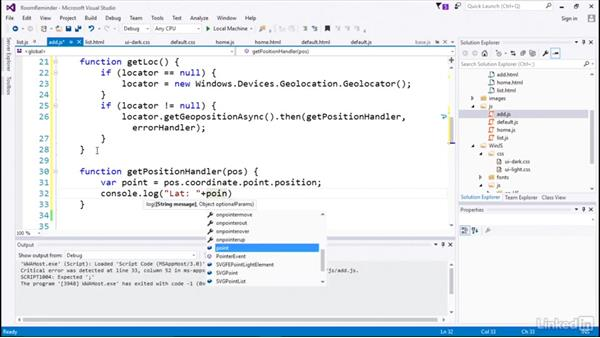 Using the Geolocation API: Developing Universal Windows Apps