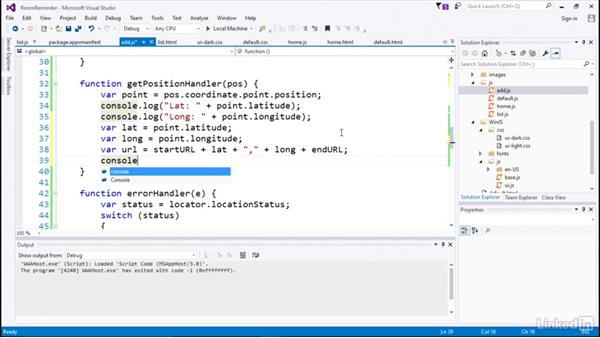 Using XHR request to get data: Developing Universal Windows Apps