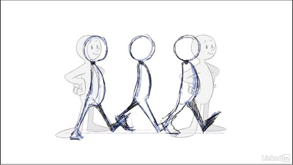 Create the contact pose: 2D Animation: Walk Cycles Basics