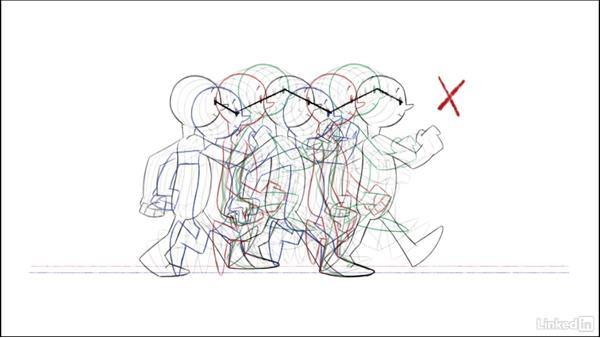 Troubleshoot the arcs: 2D Animation: Walk Cycles Basics