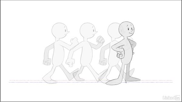 Move from a walk to a stand: 2D Animation: Walk Cycles Basics