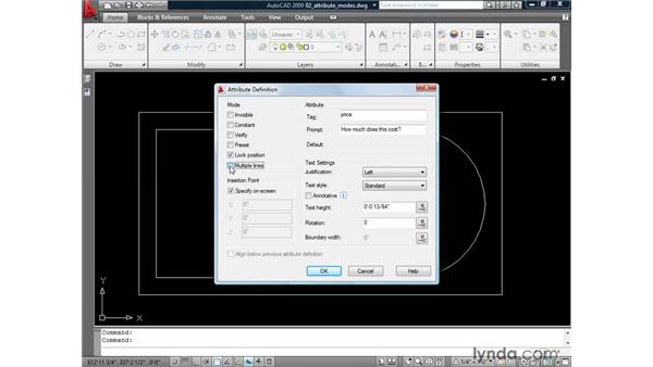 Understanding the attribute modes: AutoCAD 2009: Mastering References