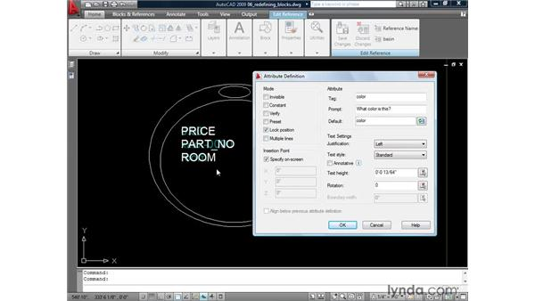 Redefining blocks with attributes: AutoCAD 2009: Mastering References