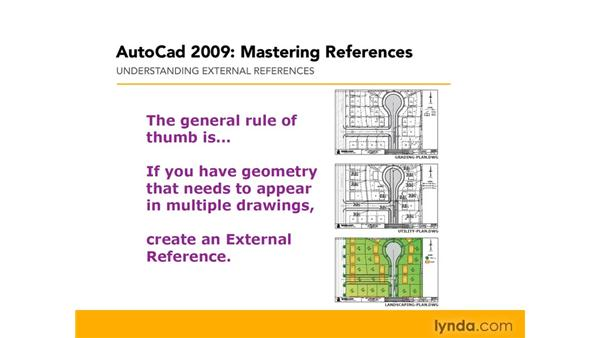 Understanding external references: AutoCAD 2009: Mastering References