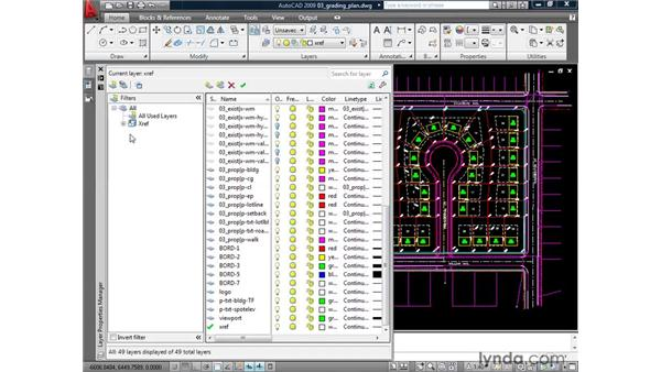 Controlling the appearance of referenced drawings: AutoCAD 2009: Mastering References