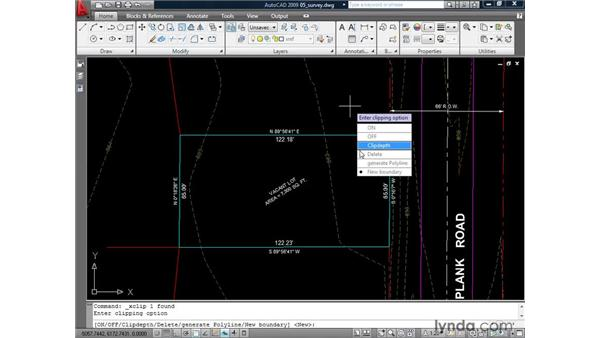 Clipping an external reference: AutoCAD 2009: Mastering References