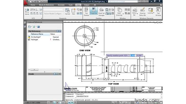 Inserting images: AutoCAD 2009: Mastering References