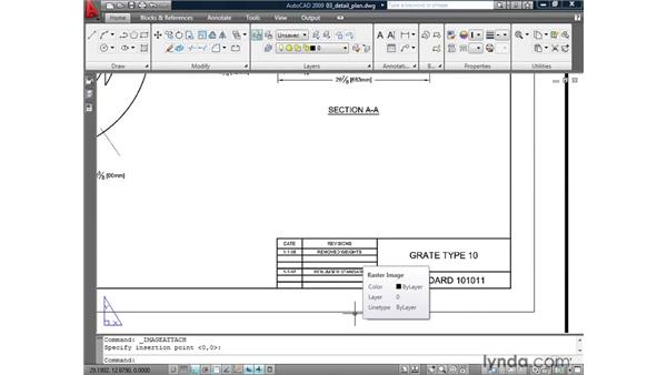 Controlling the display of the image border: AutoCAD 2009: Mastering References