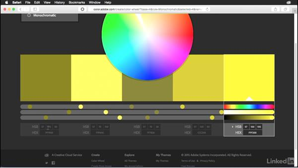 Exploring color rules: Adobe Color Essential Training