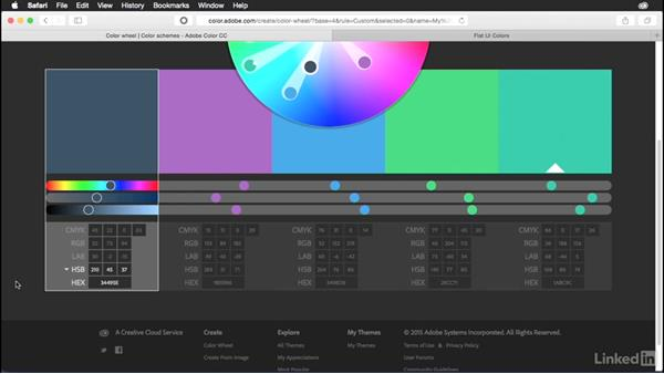 Specifying color values: Adobe Color Essential Training