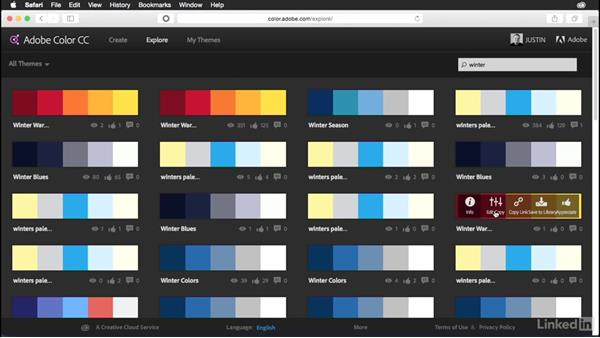 Saving and editing existing themes: Adobe Color Essential Training