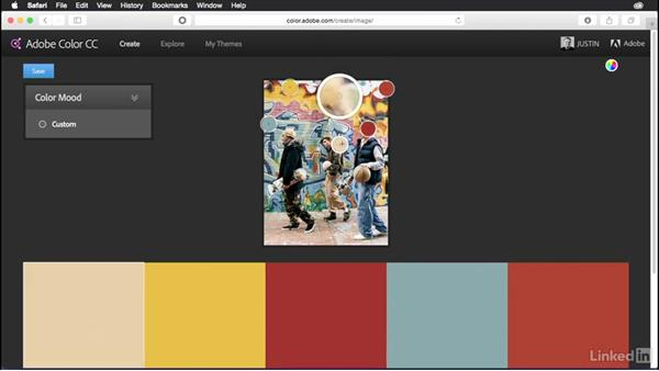 Creating a theme from an image: Adobe Color Essential Training