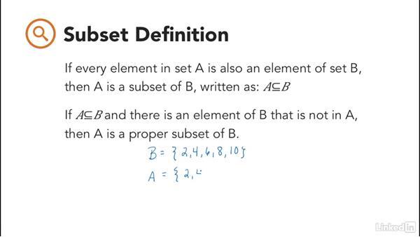 Set notation: Foundations of Programming: Discrete Mathematics