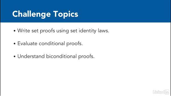 Challenge: Write a proof: Foundations of Programming: Discrete Mathematics