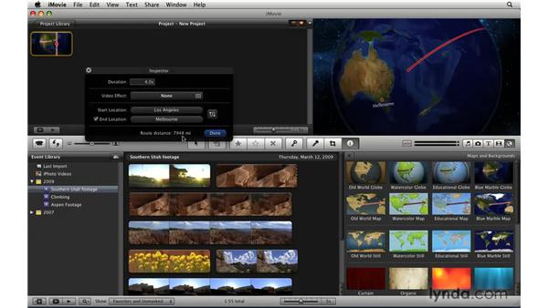 Creating animated travel maps: iLife '09 New Features