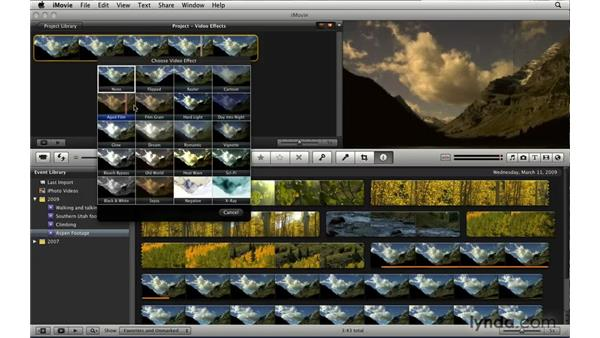 Understanding the new video effects: iLife '09 New Features