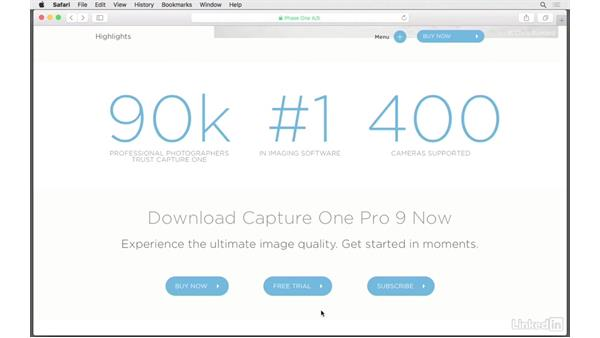 Which version is right for you?: Capture One Pro 9 Essential Training