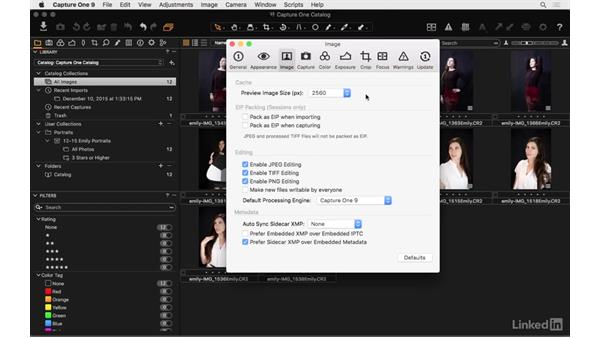 Set initial preferences: Capture One Pro 9 Essential Training