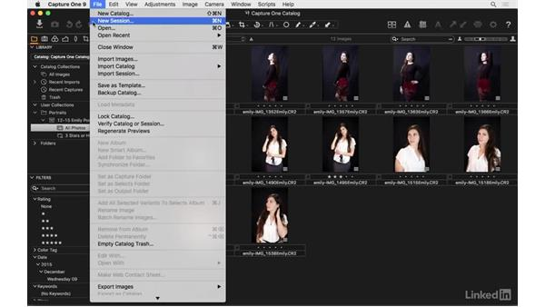 Catalog vs. session: How are they different?: Capture One Pro 9 Essential Training