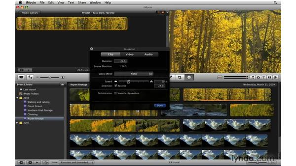Working in fast and slow motion: iLife '09 New Features