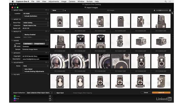Import images from a memory card: Capture One Pro 9 Essential Training