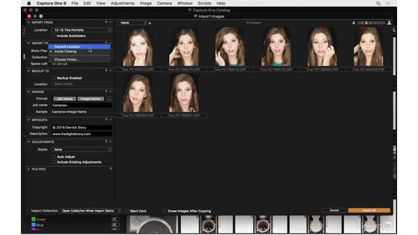 Import images from a SSD or hard drive: Capture One Pro 9 Essential Training