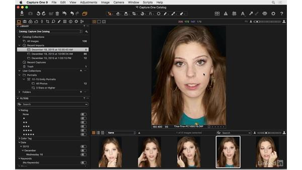 Switch viewer modes: Capture One Pro 9 Essential Training