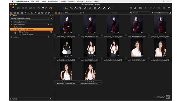 Explore the Library pane: Capture One Pro 9 Essential Training