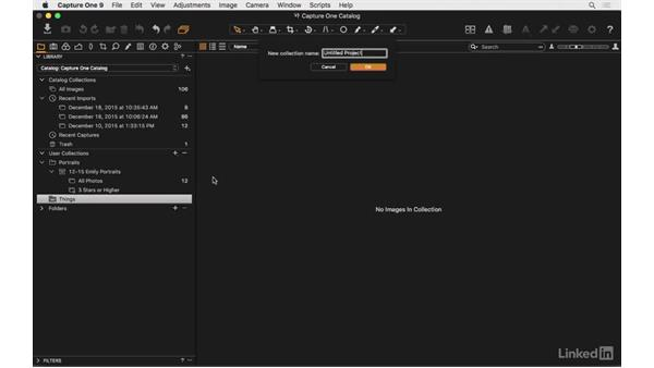 Create a project: Capture One Pro 9 Essential Training