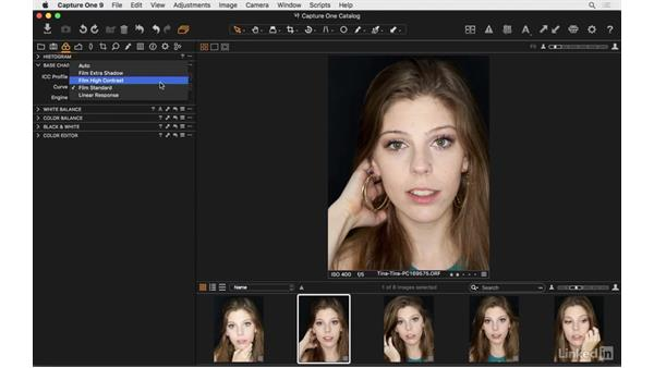 Set base characteristics: Capture One Pro 9 Essential Training