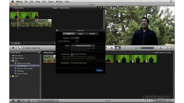 Using the Green Screen effect: iLife '09 New Features
