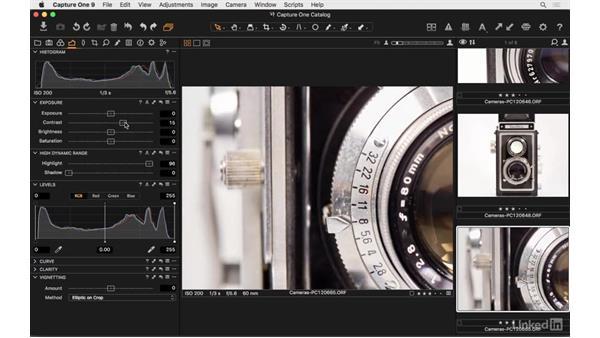 Understanding high dynamic range adjustments: Capture One Pro 9 Essential Training