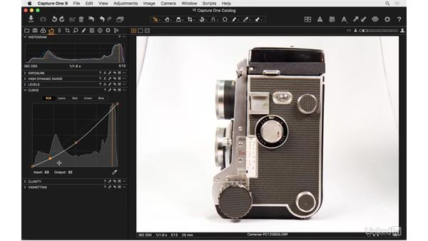Use curves: Capture One Pro 9 Essential Training