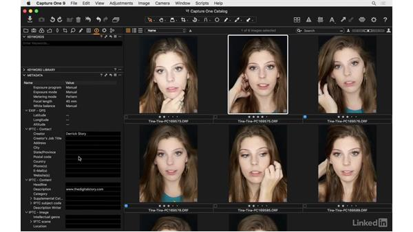 Overview of the Metadata tab: Capture One Pro 9 Essential Training