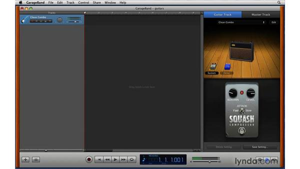 Using the redesigned guitar amps and effects: iLife '09 New Features