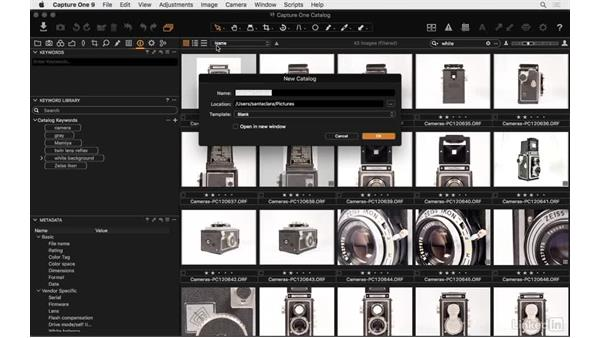 Import and export keyword libraries: Capture One Pro 9 Essential Training