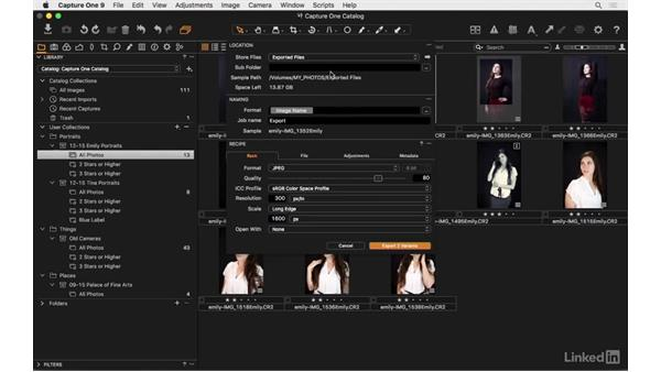 The two methods for export: Capture One Pro 9 Essential Training