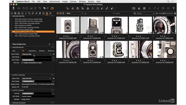 Confirm the correct output location: Capture One Pro 9 Essential Training