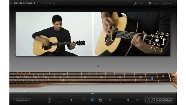 Watching the Learn to Play lesson: iLife '09 New Features