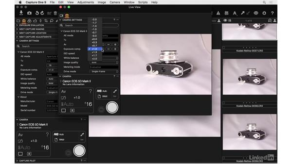 Tether directly into a managed catalog: Capture One Pro 9 Essential Training