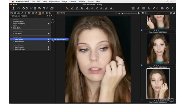Styles and presets: Capture One Pro 9 Essential Training