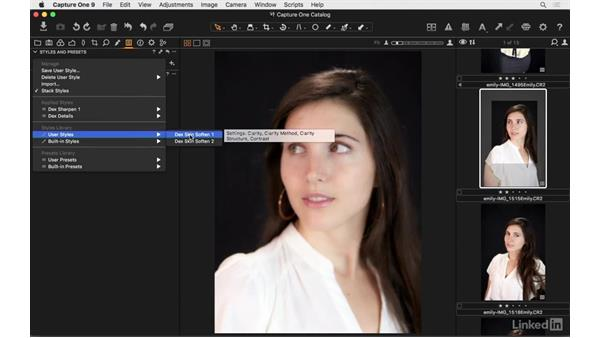 Stack styles and presets: Capture One Pro 9 Essential Training