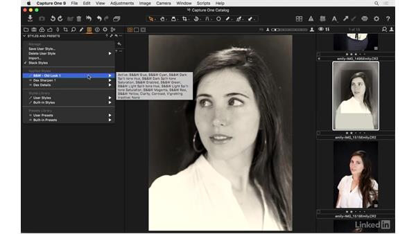 Use built-in styles: Capture One Pro 9 Essential Training