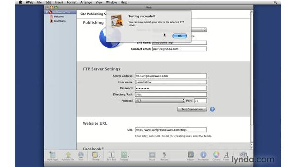 Integrating FTP publishing: iLife '09 New Features
