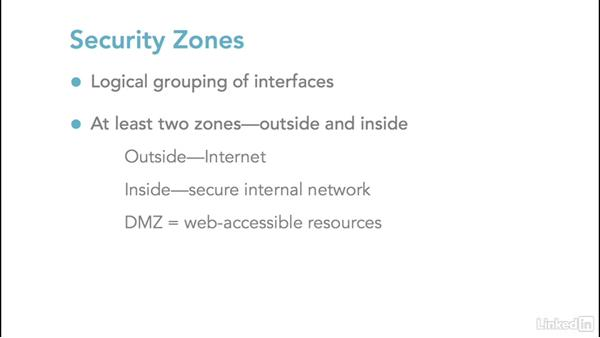 Firewalls and security zones: Foundations of Networking: Network Media (WANs)