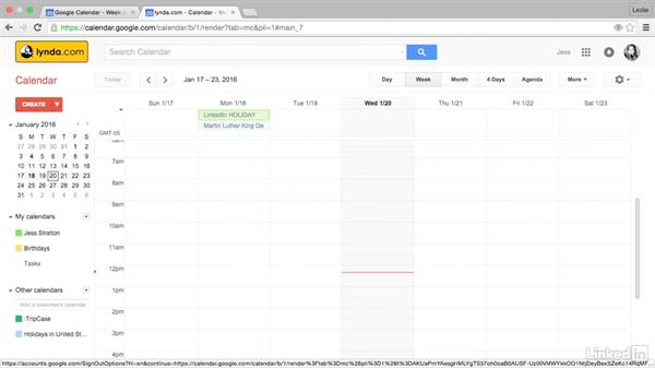 Compare Google Calendar with Google Apps Calendar: Google Calendar Essential Training