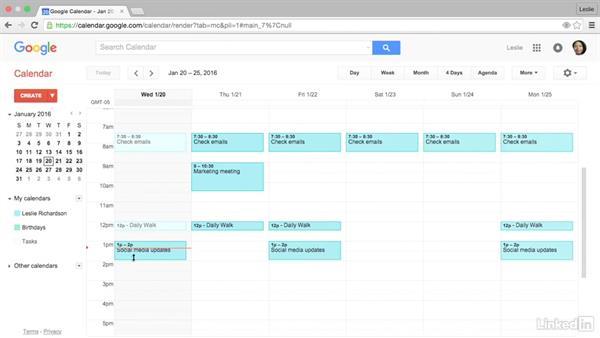 Navigate Google Calendar: Google Calendar Essential Training
