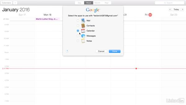 Access Google Calendar on a Mac: Google Calendar Essential Training