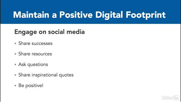 Create a positive digital footprint: Digital Citizenship