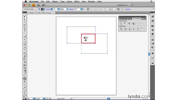 Creating a Live Paint group: Illustrator CS4 Beyond the Basics